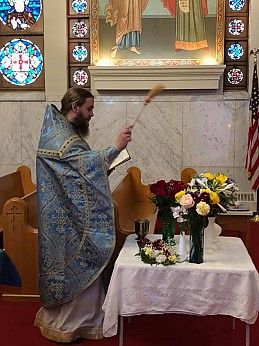 Blessing Flowers at the Feast of the Dormition of the Theotokos, 2019